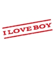 I Love Boy Watermark Stamp vector image vector image