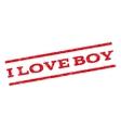 I Love Boy Watermark Stamp vector image