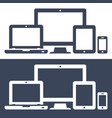 icons smart phone tablet laptop and desktop vector image vector image