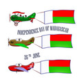 independence day of madagascar set with three vector image vector image