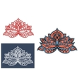 Indian flower adorned by cyan paisley ornament vector image vector image