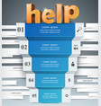 infographics up the ladder to success help stair vector image vector image