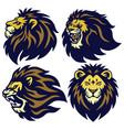 lion head esport logo set collection vector image vector image