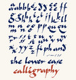 lowercase calligraphy alphabet vector image
