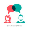man and woman communication icon vector image vector image