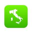 map of italy icon digital green vector image vector image
