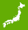 map of japan icon green vector image vector image