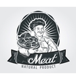 Meat products logo design template Cooking vector image vector image