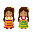 mexican girls in national dress vector image