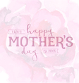 Mothers Day Design Element for Greeting Cards vector image vector image