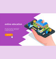 online education banner 02 vector image vector image