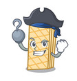 pirate waffle character cartoon style vector image