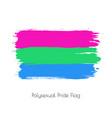 polysexual lgbt watercolor flag vector image vector image