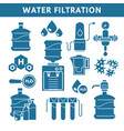 purification and water filtration system isolated vector image vector image