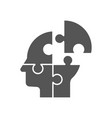 puzzle shaped head business concept design vector image