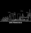 san francisco city silhouette skyline usa - san vector image vector image