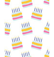 seamless pattern with hand drawn cake happy vector image vector image