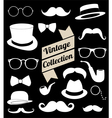 set collection vintage fashion elements vector image vector image