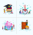 set diversity boy girl character education vector image