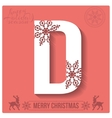 Set of Christmas stylized alphabet and numbers vector image