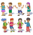 Set of cute cartoon kids vector image vector image
