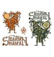 siberian shaman vector image vector image