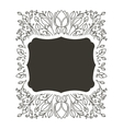 silhouette horizontal border heraldic with vector image vector image