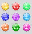 social network icon sign symbol on nine wavy vector image vector image