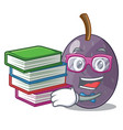 student with book velvet tamarind fruit isolated vector image