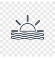 sunset concept linear icon isolated on vector image