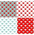 Tile pastel hearts background wallpaper set vector image vector image
