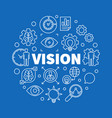 vision round outline business vector image vector image
