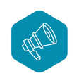 voice megaphone icon outline style vector image vector image
