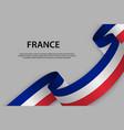 waving ribbon flag france template for vector image