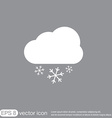 weather icon cloud snow vector image