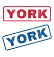 York Rubber Stamps vector image vector image