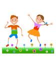 featuring dancing kids vector image
