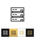 Server or computer data storage icon vector image