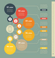 infographic template of technology or education vector image