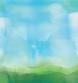 Abstract watercolor landscape vector image vector image