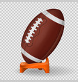 american football poster vector image vector image