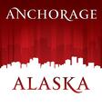 Anchorage Alaska city skyline silhouette vector image vector image