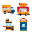 and booth icon set and vector image