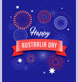 australia day fireworks and celebration card vector image vector image