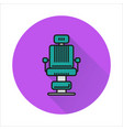 barber chair simple icon on circle background vector image vector image