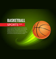 basketball poster sport flyer basketball vector image vector image