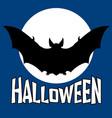bat halloween flat vector image