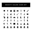beauty salon icon set with black color glyph vector image vector image