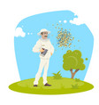 beekeeping apiary and beekeeper design vector image
