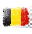 belgium flag texture on transparent background vector image vector image